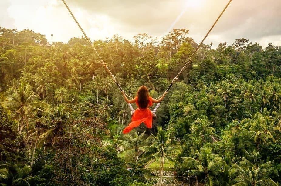 ticket bali jungle swing ubud tour