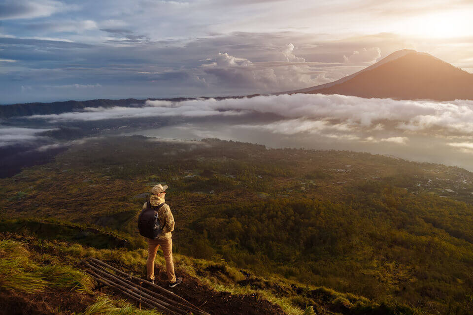 mount batur trekking package with breakfast and natural hotspring